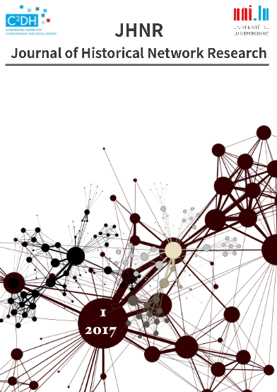 Inaugural Issue of the Journal of Historical Network Research